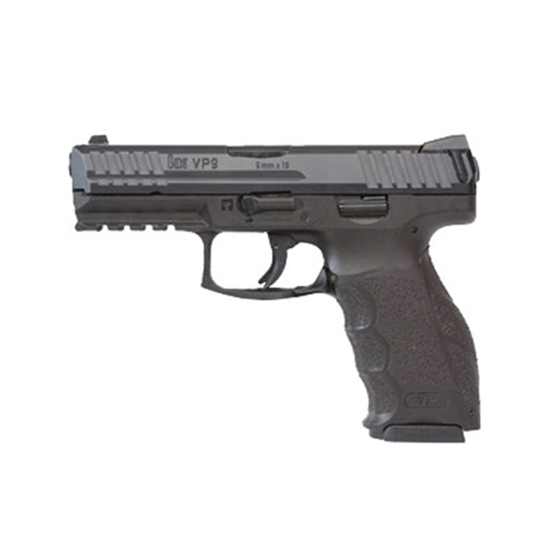 "HK VP9 9MM 4.09"" 15RD BL 2 MAGS"